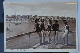 Cattolica (Rimini), Ora Del Bagno, Viaggiata 1947, Animata, Belle Ragazze - Rimini