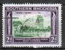 Southern Rhodesia 1940  Single 2d Stamp From The British South Africa Company Golden Jubilee Set. - Südrhodesien (...-1964)