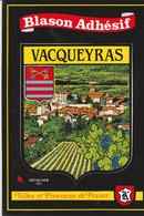 CPSM 84 VACQUEYRAS  BLASON ADHESIF - France