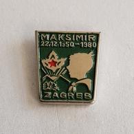 "OLD CROATIA BOY SCOUT UNIT ""MAKSIMIR"" ZAGREB  PIN BADGE BROCHE DISTINTIVO INSIGNE - Scoutisme"