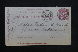 FRANCE - Enveloppe Pneumatique De Paris En 1898 - L 24167 - Neumáticos