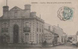 Y26- 33) COUTRAS (GIRONDE) HOTEL DE LA PAIX ET AVENUE DE LA GARE - (ANIMEE) - France