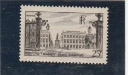 ///   FRANCE - N° 778 Neuf ** Nancy - Côte 5.35€ - Francia