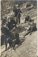 CARTE PHOTO GROUPE DE GRIMPEURS. NON SITUEE - Alpinisme