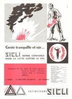 """PUB EXTINCTEURS   """" SICLI """"    1957  (2) - Autres"""