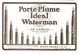 "PUB  STYLO-PLUME  "" IDEAL WATERMAN   ""    1921  (10) - Stylos"