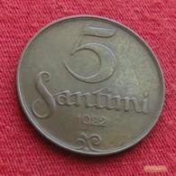 Latvia 5 Santimi 1922 KM# 3  Letonia Lettland Lettonia Latvija Lettonie - Lettonie