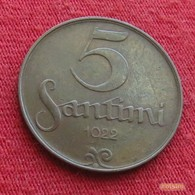 Latvia 5 Santimi 1922 KM# 3  Letonia Lettland Lettonia Latvija Lettonie - Latvia