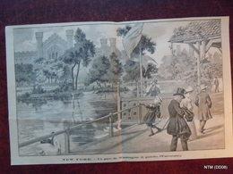 French News Paper Cutting. Scene Of New York - Le Parc De Washington (a Gauche L'universite). - Newspapers