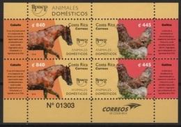 Costa Rica (2018) - Block -   /  Fauna - Hen - Oiseaux - Vogel - Horse - Chevaux - Pferde - UPAEP - Gezamelijke Uitgaven