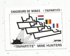 Autocollant , Bateau De Guerre ,militaria , Chasseurs De Mines TRIPARTITE , DTCN - Autocollants