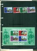 MALAWI NOEL 78 4 VAL+ BF NEUFS A PARTIR DE 0.60 EUROS - Malawi (1964-...)