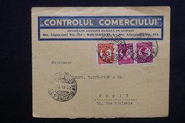 ROUMANIE - Enveloppe Commerciale De Bucarest Pour Paris En 1930 - L 24182 - 1918-1948 Ferdinand, Charles II & Michael