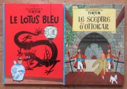 BD Tintin (Hergé) - Le Sceptre D'Ottokar Et Le Lotus Bleu - Editions 1966 - Dos Plats Bleus - Tintin