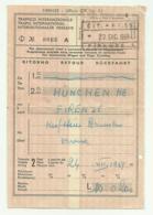 BIGLIETTO TRENO MUNCHEN FIRENZE 22 DICEMBRE 1959 - Treni