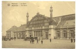MALINES - La Gare / MECHELEN - De Statie. Oblitération 1920. - Pecq