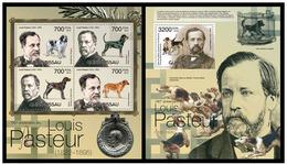 Guinea Bissau 2012 Louis Pasteur Dogs Klb+s/s MNH - Louis Pasteur