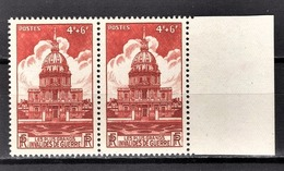 FRANCE 1946 - PAIRE Y.T. N° 751  -  NEUFS** - France