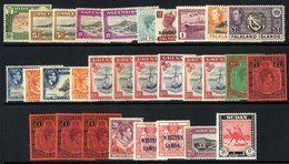 BRITISH COMMONWEALTH KGVI Chiefly M Collection Housed In A Black Page Stock Book Ranges Full & Part Sets Incl. Bahamas 1 - Non Classés