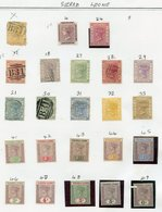 1874-1990's M (few FU) Collection On Leaves From Sierra Leone Incl. 1883 CCA 1d Rose Red M, 1896-97 Set To 6d M + 5s M,  - Non Classés