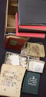 MISCELLANEOUS ACCUMULATION IN CARTON Incl. Juvenile Collections, Stamps In Packets In Box, Loose Stamps In Box, GB Colle - Non Classés