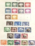 BRITISH COMMONWEALTH - ASIA Collection Of M & U On Leaves Incl. Aden 1937 Dhows To 2r M (2½a & 3½a Are U), 1939 Set Mixe - Non Classés
