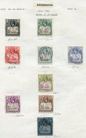 BRITISH COMMONWEALTH M & U Collection On Leaves, Mainly Part Sets Or Odds, Ranges Incl. Ascension, Brunei, Burma, Barbad - Non Classés