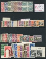 BRITISH COMMONWEALTH KGVI UM Complete Sets Comprising Burma 1946 Telegraph Set In Blocks Of Four, Dominica 1938 Set, Gol - Non Classés