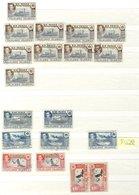 STOCK BOOKS (2) Containing USA UM (face Value $58), 2nd Containing Falklands Duplicated KGVI Defins M Or U 1/3d, F.I.D M - Non Classés