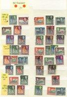 BRITISH COMMONWEALTH KGVI Defins FU Range Comprising St. Helena 1938 Set, St. Kitts 1938 2/6d, 5s Etc, 1952 Set, St. Luc - Non Classés