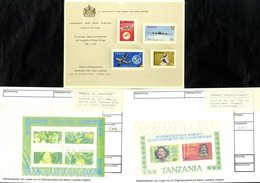 HARRISON & SONS Promotional Cards/folders Displaying Attached New Issues For Australia, Bechuanaland, Basutoland, Gambia - Non Classés