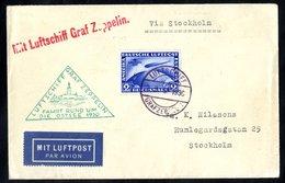 1930 Ostsee Flight Envelope To Sweden, Franked 2rm Zeppelin, SG.456a (Cat. £500), Cancelled 'Luftschiff Graf Zeppelin.'  - Timbres