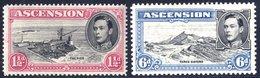1949 1½d Black & Rose Carmine P.14, M Example With Davit Flaws, SG.40da, 6d Black & Blue P.13, M Example (tiny Tones) Wi - Non Classés