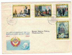 YN49   Cuba FDC 1967 - Revolucion De Octubre, 50th Anniversary October Revolution - FDC