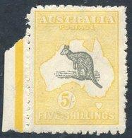 1918 5s Grey & Yellow, Fine M, Part Left Marginal Example, SG.42. (1) Cat. £275 - Non Classés