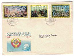 YN50   Cuba FDC 1967 - Revolucion De Octubre, 50th Anniversary October Revolution - FDC