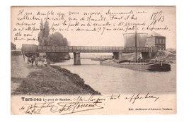 CPA TAMINES : Le Pont De Sambre - Belle Animation - Circ. 1903 - Edit. De Roover Et Léonard, Tamines - Sambreville