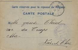 PIE-19-Mo-1008 : CARTE CORRESPÖNDANCE MILITAIRE.CACHET FRANCHISE  POSTALE MILITAIRE. 10 ° REGIMENT  DU GENIE.12 03 1915 - Marcophilie (Lettres)