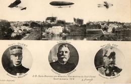 Aviation. CPA. Carte Souvenir Grandes Manoeuvres Du Sud Ouest. GALLIENI. JOFFRE. MARION. Dirigeables, Avions. 1912. - Aviation