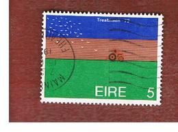 IRLANDA (IRELAND) -  SG 332  -    1973 PLOUGHING   - USED - 1949-... Repubblica D'Irlanda