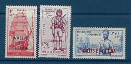"Wallis YT 87 à 89  "" Défense De L'Empire "" 1941 Neuf** - Ungebraucht"