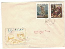 YN51   Cuba FDC 1968 - Dia Del Sello, Day Of The Stamp,  Journee Du Timbre - FDC