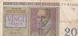 BELGIQUE / 20 FRANCS 1950 - [ 2] 1831-... : Royaume De Belgique