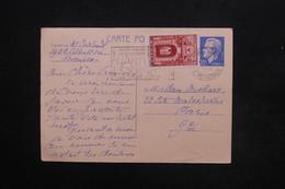 MONACO - Entier Postal + Complément Pour Paris En 1960 - L 24202 - Entiers Postaux