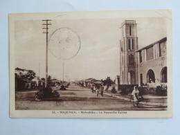 C.P.A. : Madagascar : MAJUNGA : Mahabibo La Nouvelle Eglise, Animé, Timbre En 1936 - Madagascar