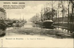 LAEKEN :  Le Canal De Willebroeck   //  Pub Biscuits Parein - Laeken