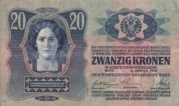 Billet Autriche Hongrie 20 Kronen 2 Janvier 1913 Magyar Bank - Hongrie
