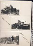 JL 1 Mai 1940 Combats De Chars De Flavion. Heer Wehrmacht Panzer III De La 5. Pz. Détruit + Tombes De L'équipage Repros - 1939-45