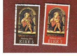IRLANDA (IRELAND) -  SG 384.385  -    1975  CHRISTMAS -     USED - 1949-... Repubblica D'Irlanda