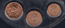 FRANCE 3 MONNAIES EURO 1.2.5 CENTIMES 2006 B U SOUS BLISTER - Frankrijk